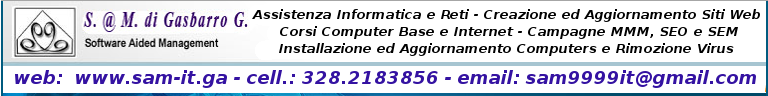 Software @ Management - Assistenza Tecnica e Corsi Informatica ed Internet. Grafica per la stampa ed il web. Creazione ed Aggiornamento siti web. Campagne MMM SEM SEO!