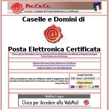 PEC Cu Cc - Domini ed email PEC certificate!