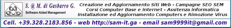 Software @ Management - Assistenza Tecnica e Corsi Informatica ed Internet. Grafica per la stampa ed il web. Creazione ed Aggiornamento siti web. Campagne MMM SEM SEO!