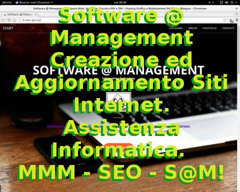 Software @ Management - Informatica ed Internet. Corsi Computer. Creazione Siti Web. SEO S@M MMM