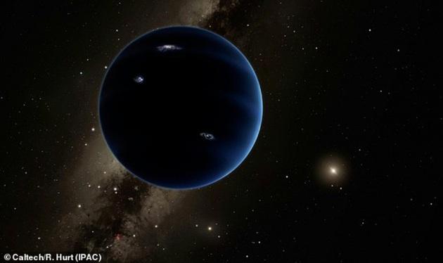 Zona di probabilità per trovare Planet Nine