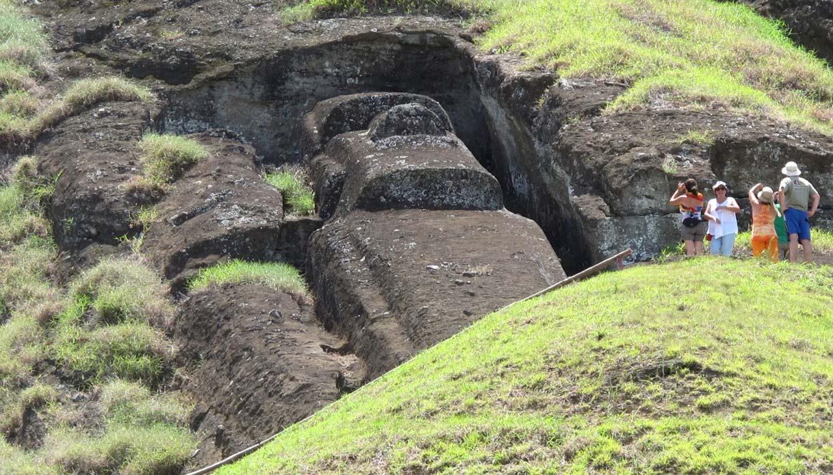 Isola di Pasqua: sotto le teste dei Moai c'è anche il corpo