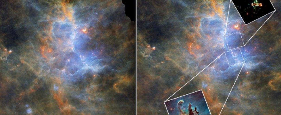 Grazie al telescopio spaziale Herschel, la Via Lattea come non l'avete mai vista