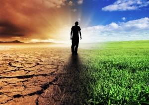 L'uomo tra cielo e terra, spirito e materia, i due principi della vita