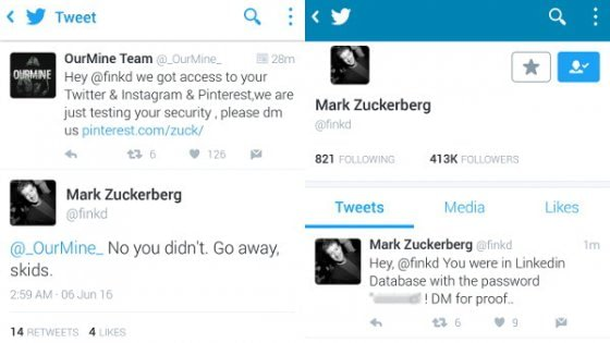 Zuckerberg sotto attacco: violati i suoi account social