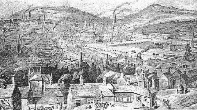 MUSEO DEL PATRIMONIO INDUSTRIALE: DALL'ACQUA AL VAPORELa città industriale di Sheffield in un dipinto di William Ibbit, prima metà secolo XIX