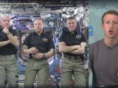 Primo collegamento Facebook con la Stazione Spaziale