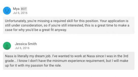 Mya, a farti il colloquio di lavoro è un chatbot