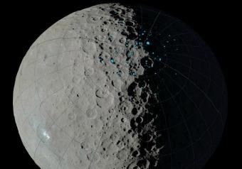 Cerere, c'è ghiaccio nei crateri