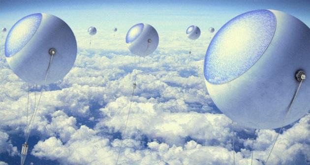 Palloni fotovoltaici sopra le nuvole