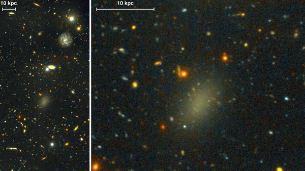 La galassia Dragonfly 44, formata quasi completamente da materia oscura