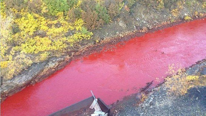 Fiume rosso sangue in Russia: quali le spiegazioni