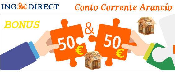 Apri Conto Corrente Arancio con il Codice Amico: riceverai 50 euro