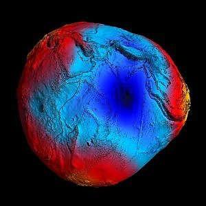 Il campo gravitazionale della Terra misurato dal satellite dell'Esa Goce