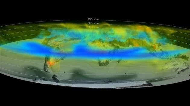 Una nuova animazione della NASA mostra le emissioni di anidride carbonica viaggiare in atmosfera, in tre dimensioni e con una precisione senza precedenti.