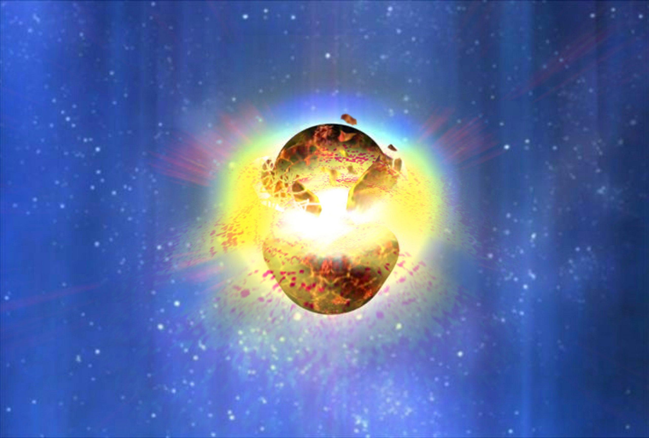 Nel 2022, una nuova luce del cielo, nascerà dalla collisione di due stelle