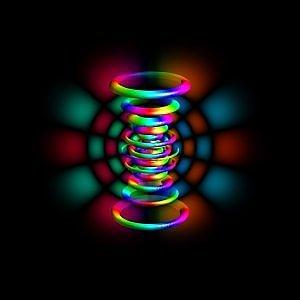 La funzione d'onda dell'equazione di Schrodinger di un atomo di idrogeno