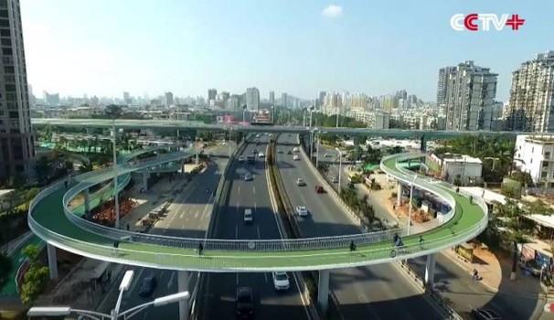 A Xiamen in Cina c'è la pista ciclabile sospesa più lunga al mondo