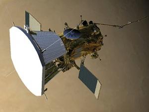 Lo scudo termico, sul fronte della sonda.