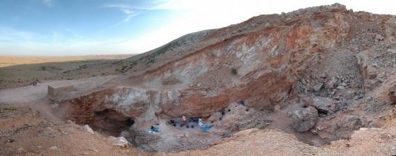 Il sito di Jebel Irhoud (Marocco). Forse, quando era occupata dagli uomini, era una caverna, ma la maggior parte dei sedimenti sono stati rimossi negli anni Sessanta.