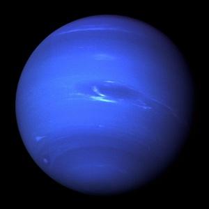 Nettuno con la sua caratteristica macchia. | NASA