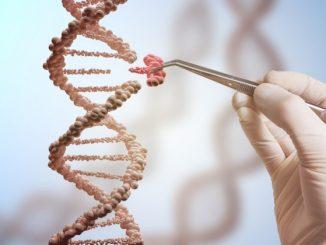 Una rappresentazione concettuale della tecnica CRISPR: le forbici molecolari consentono di intervenire con precisione soltanto dove serve. Almeno in teoria: vedi anche effetti inattesi dell'editing genetico
