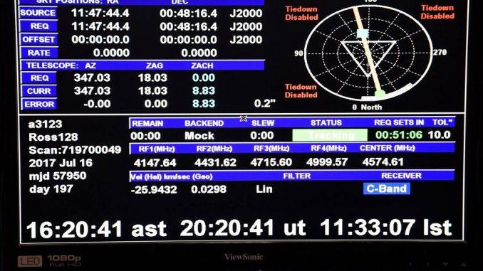 Captato segnale radio alieno proveniente da Ross 128