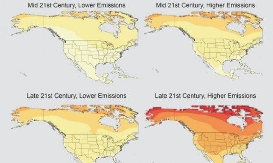 """""""Temperature record, è colpa dell'uomo"""": rapporto di 13 agenzie Usa. Timori per la 'censura' di Trump"""