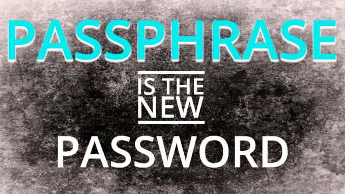 Passphrase o password, cosa è meglio usare?