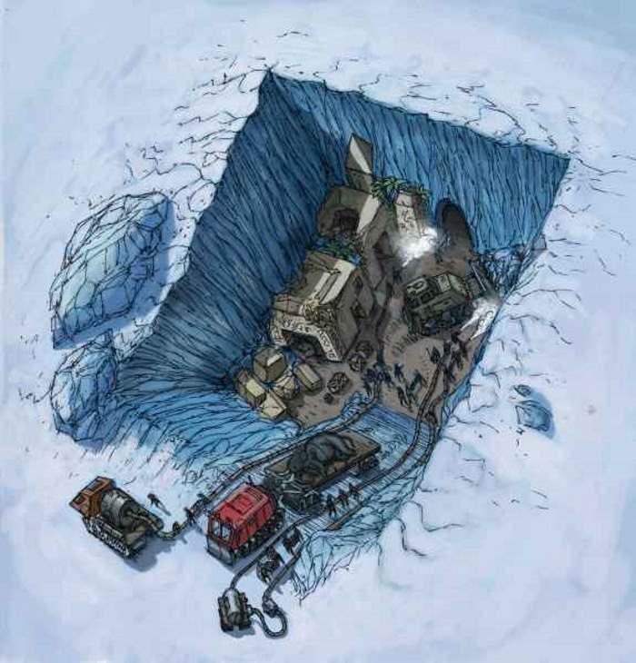 Una civiltà aliena congelata in Antartide