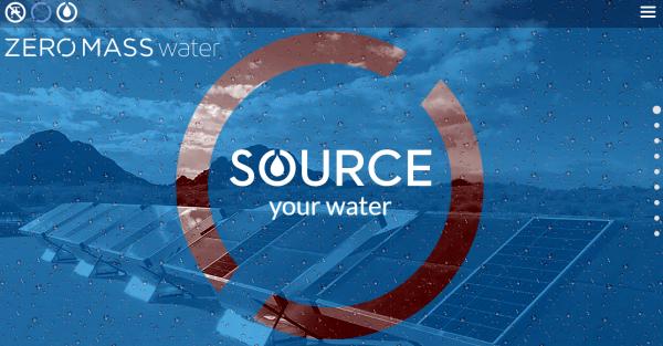 Il pannello solare per estrarre acqua dall'aria
