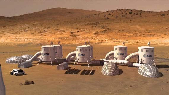 Illustrazione: una base su Marte. Ne vedremo una, forse, nella seconda metà del secolo.| NASA