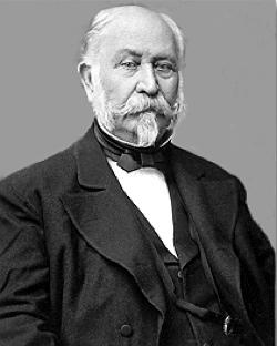 John Augustus Sutter, il proprietario delle terre in cui fu trovato l'oro