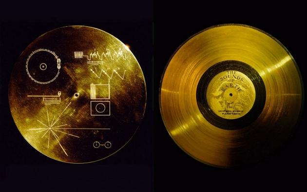 Il disco d'oro a bordo delle sonde Voyager