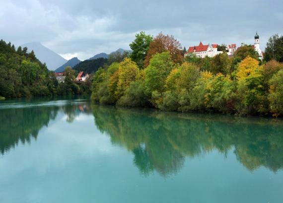 Un insediamento sul fiume Lech, in Germania.