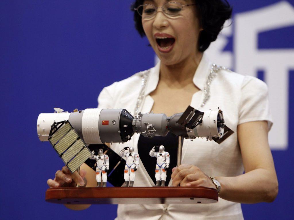 Un modello in scala di Tiangong-, Jason Lee/Reuters