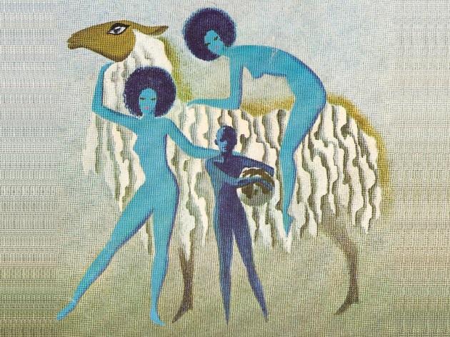 Illustrazione per un'edizione diL'uomo che comprò la Terra, di Cordwainer Smith (1965): le disavventure di un'immortale, reso tale da una droga estratta dalla lana di una pecora, che alla fine (1968) lo porteranno a essereL'uomo che regalò la Terra...