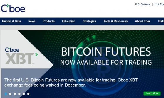 Bitcoin esordisce al Chicago Board Options Exchange e vola oltre i 18 mila dollari