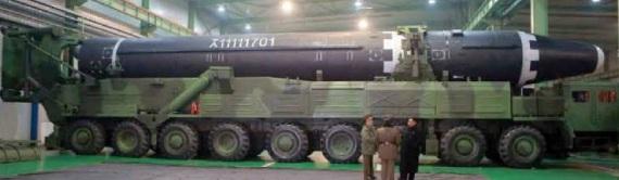 Il Hwasong-15 è lungo 22,5 metri