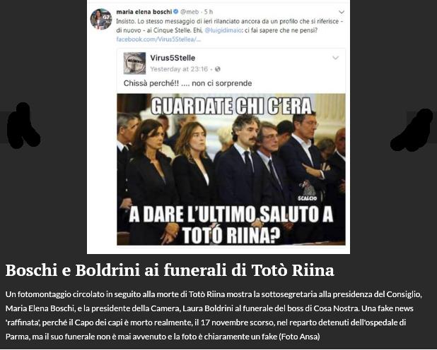 Boschi e Boldrini ai funerali di Totò Riina