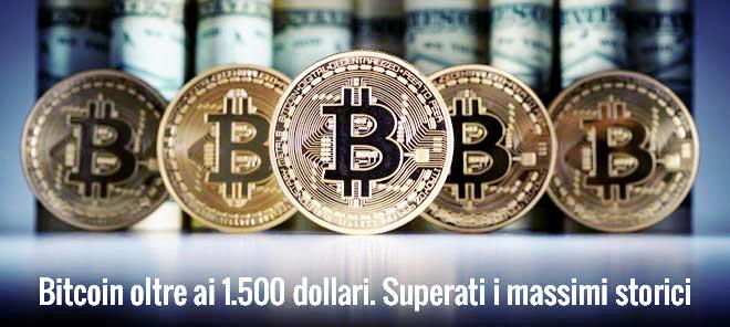 I Bitcoin scambiati sul mercato valutario Americano