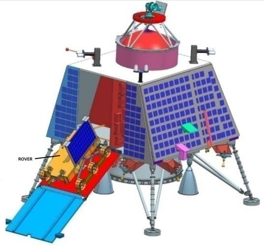 Il lander e il rover in una ricostruzione al computer