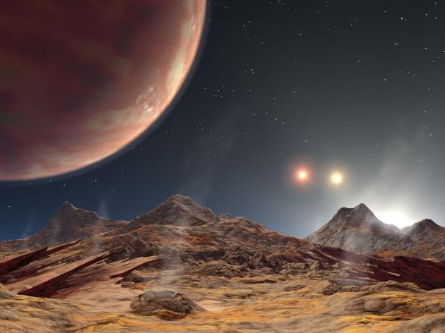 Illustrazione artistica di un pianeta in orbita attorno alla stella B del gruppo Alpha Centauri, a 4,3 anni luce dal Sole.