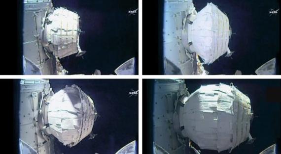 Il momento in cui venne gonfiato il BEAM una volta agganciato alla ISS| NASA