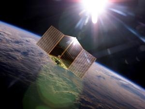 Il satellite della SITAEL (illustrazione). | SITAEL
