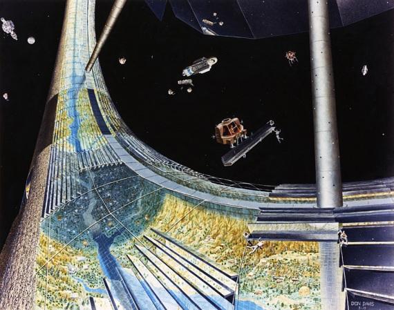 Colonie spaziali in stile vintage. | Courtesy of NASA