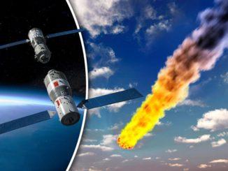 In caduta libera anche sull'Italia la stazione spaziale cinese