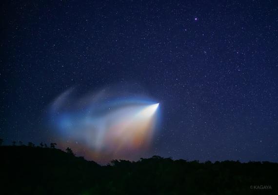 Le prime fasi del lancio del razzo Epsilon-3 dall'Uchinoura Space Center. | Kagaya