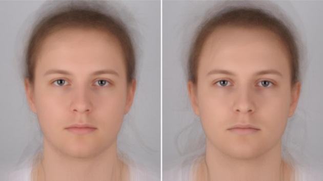 Individuio sano (a sinistra) e infettato con E. coli (a destra): le palpebre calanti e il pallore del volto denunciano chi ha contratto l'influenza per amore della scienza.|Audrey Henderson