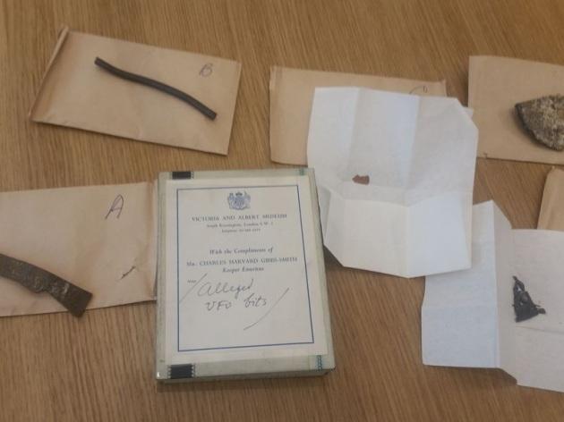 I frammenti di UFO ritrovati al Museo della Scienza di Londra.|DR. DAVID CLARKE
